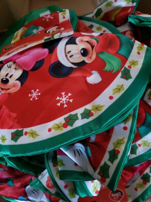 "Disney Mickey and Minnie 16"" Diameter Mini Tree Skirt FREE SHIPPING"