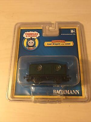 Bachmann HO OO Thomas & Friends Green Coal Wagon Car w/Load BAC77029 Hornby