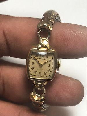 Nice Vintage Ladies Waltham 10K Gold Filled19 Jewel Analog Watch