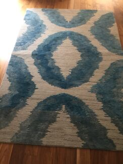 NZ Wool Rug with Art Silk