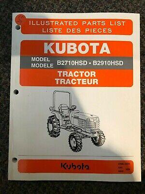 Kubota Tractor Illustrated Parts List B2710hsd B2910hsd