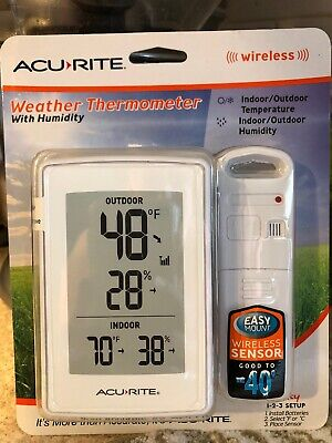 Acurite Weather Thermometer Wireless Indoor And Outdoor With Humidity