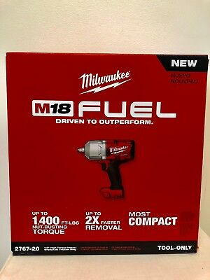 "Milwaukee 2767-20 M18 FUEL 1/2"" High Torque Impact Wrench with Friction Ring NIB"