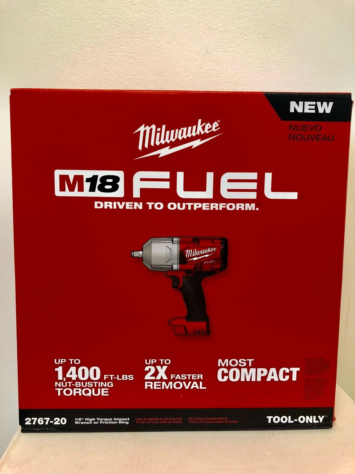 "Milwaukee 2767-20 M18 FUEL 1/2"" High Torque Impact Wrench wi"
