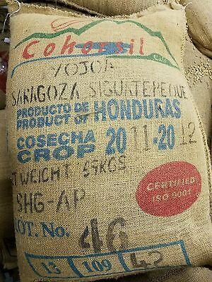 UNROASTED Honduran green coffee beans 20lb.