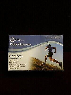 Roscoe Medical Finger Pulse Oximeter O2 Monitor Oxygen Monitor Pox-ros