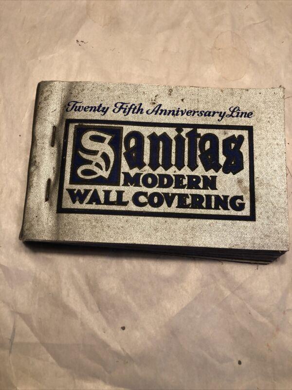 Vintage 1929 Sanitas Modern Wall Covering Wallpaper Sample Book Catalog