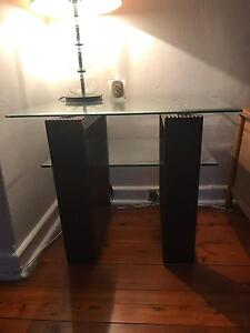 2x glass / wood side tables Dover Heights Eastern Suburbs Preview