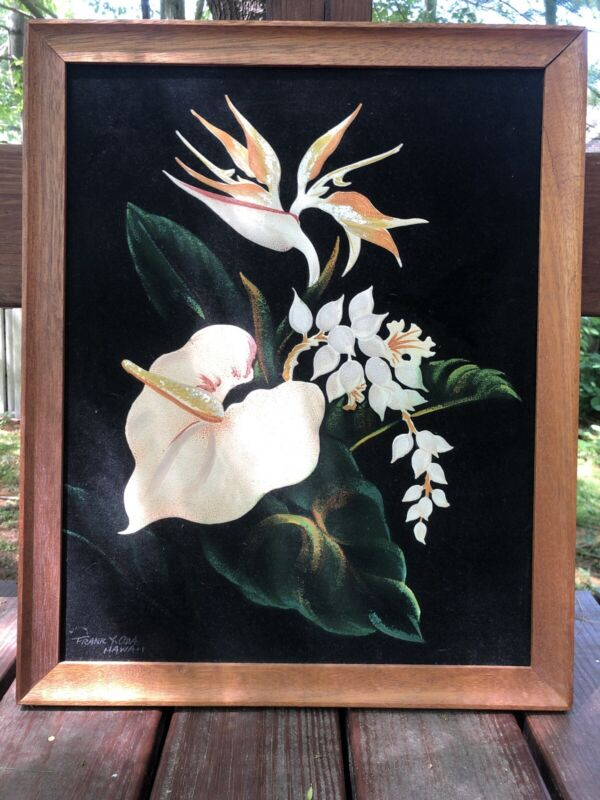 "Frank Y. Oda Hawaiian Original Painting ""Four Of Hawaii's Most Famous Flowers."""
