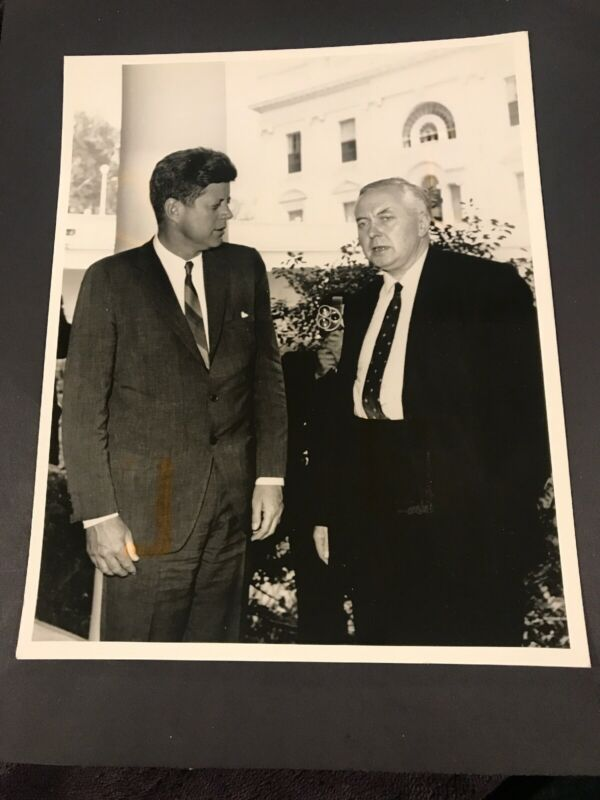 John F. Kennedy VINTAGE PRESS PHOTO 8 x 10 1980's London Features