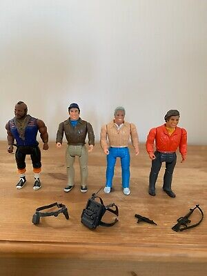 Vintage Galoob The A Team figures.Including rare Face Variant.