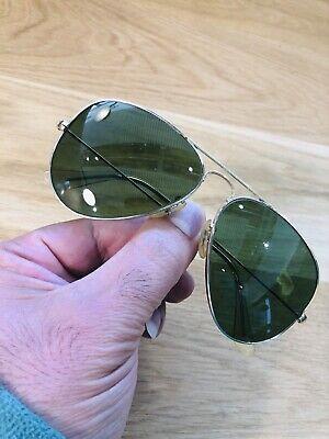 Usado, Vintage Ray Ban Aviators B&L Sunglasses Bausch&Lomb USA 58[]14 Gold RB3 Used segunda mano  Embacar hacia Mexico
