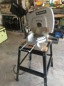 "Hitachi 15"" (380mm) Mitre Saw. With Stand!"