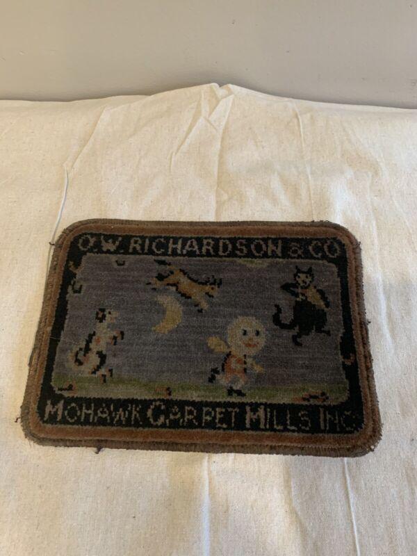 Antique Salesman Sample Advertising O.W Richardson Mohawk Carpet Mills
