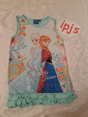 Mädchen Kleid Disney Frozen Eiskönigin Größe 128 türkis - Disney Frozen Kleid