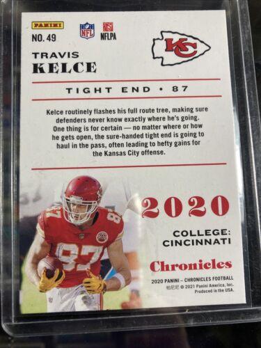 2020 Chronicles NFL Travis Kelce Base Card 49 Kansas City Chiefs - $0.99