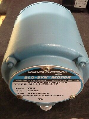 Warner Electric Slo-syn Stepper Motor M111-fd-417 2.26 Vdc 6.1a 200 Stepsrev