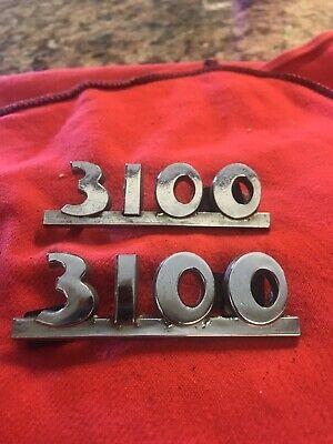 1947-1953 AD Truck Chevy 3100 Truck Side Hood Emblems Vintage Pair OEM Original