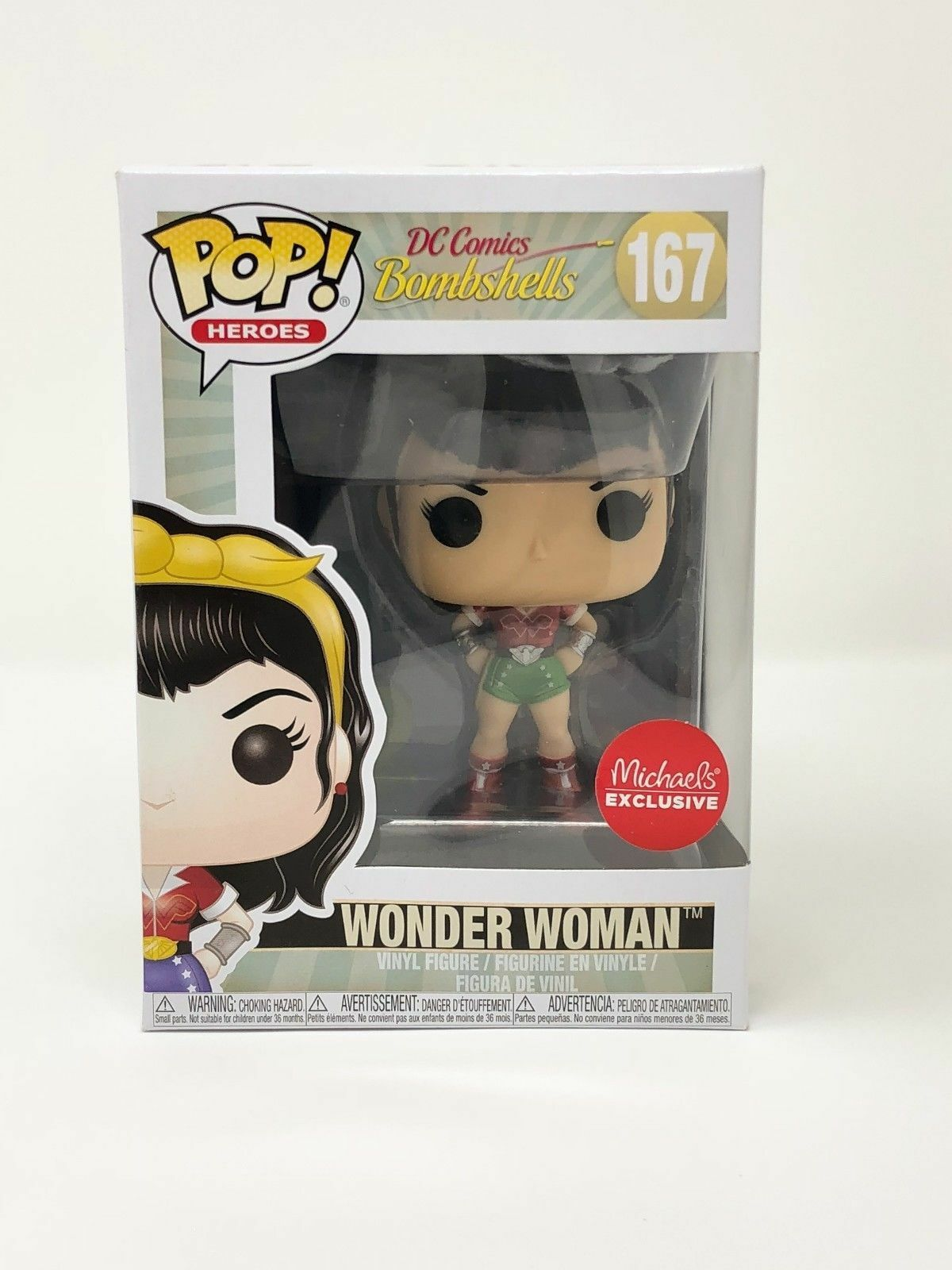 ecebf5e7308 Funko Pop Michael s DC Bombshells Wonder Woman  167 Holiday for sale ...