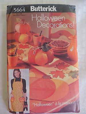 Butterick 5664 Halloween Decorations Door Hanging Table Runner Pattern UNCUT](Halloween Door Decorations Crafts)