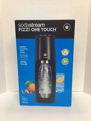 Sodastream Fizzi One Touch Electric Sparkling Water Maker Starter Kit Brand New