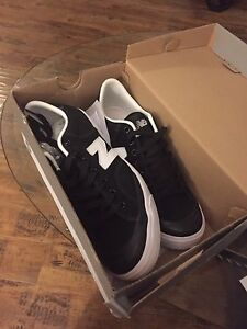 New balance white and black shoes