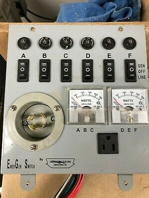 Emergen Model 6-5000 Non-automaic Generator Transfer Switch