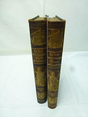Das Buch der Erfindungen Gewerbe &Industrien Ergänzungsband 1-2 gebraucht/T89.13
