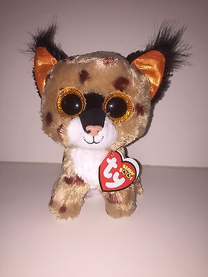 """TY BUCKWHEAT THE LYNX 6"""" BEANIE BOOS-NEW, MINT TAG-IN HAND & SHIPPING NOW"""