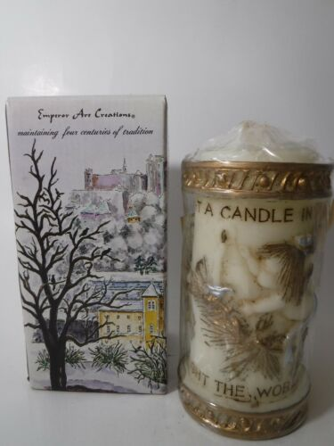 Vintage Emperor Art Creations Carved / Painted Candle LIGHT A CANDLE #84 (NEW)