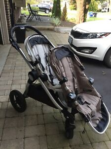 Baby Jogger City Select Double Stroller 2012 & Glider Board