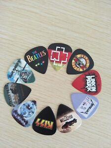 Heavy metal, Rock Band Guitar Pelcrums,   Med Gauge  Picks, Pack of six