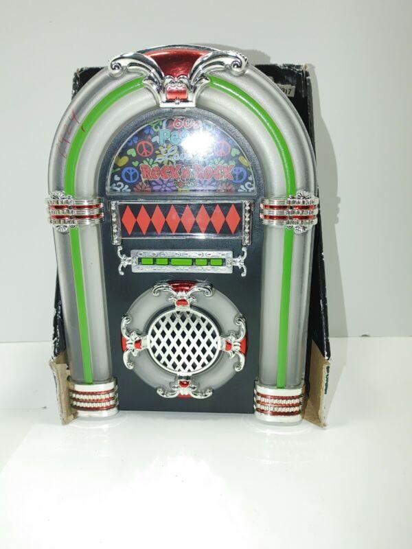 1960s Rock & Roll JUKEBOX Plays 3 Songs Musical Illuminated Centerpiece