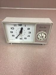 "Vintage GE General Electric Mid Century Alarm Clock ""Ever-Set"""