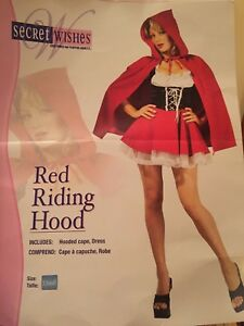 Red riding hood Halloween costume adult XS