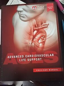 Like new and most updated Heart & Stroke ACLS Manual
