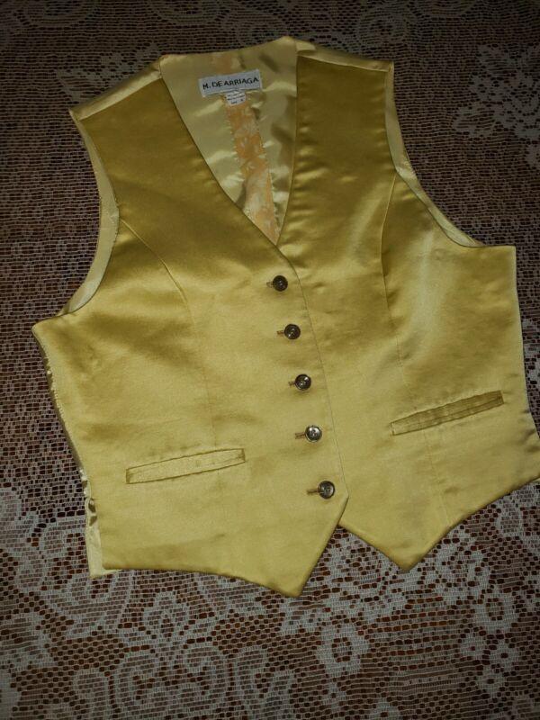 M De Arriaga Vest yellow size 8