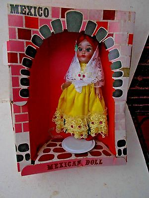 Vintage 195039s 9quot Spanish Mexican Senorita Doll w Veil