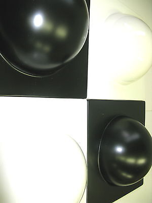 4 Bubble Elemente 70er 60er Style Bild  Bilder 2 weiß 2 schwarz  Nr 12