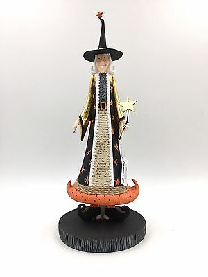 Whimsical Witch Figurine - Halloween Collectible - VI0612 - R