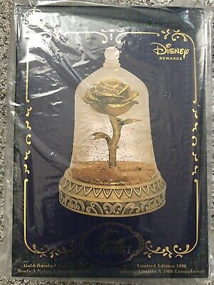"""Beauty and the Beast Enchanted Rose Snowglobe Limited Edition """"in Hand"""""""