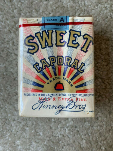 VINTAGE / COLLECTABLE 1959 SWEET CAPORAL CIGARETTE PACKET FREE SHIPPING