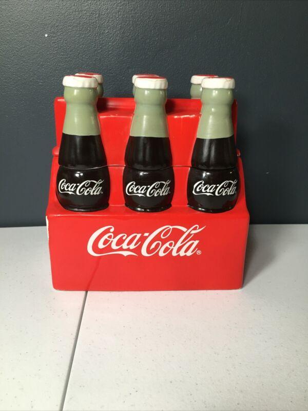 Vintage Coca Cola 6 Pack Cookie Jar Coke Soda