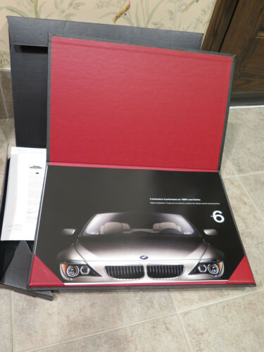 BMW 6-Series Coupe 645Ci 2004 Limited Edition Art Portfolio Brochure