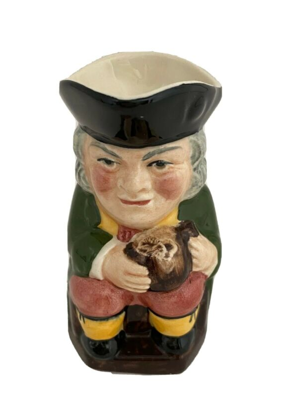 "Vintage Sylva Ceramics Staffordshire England Old Toby Creamer Mug 4"""