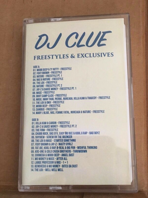 DJ CLUE? Freestyles & Exclusives 90s NYC Classic Hip Hop Cassette Mixtape