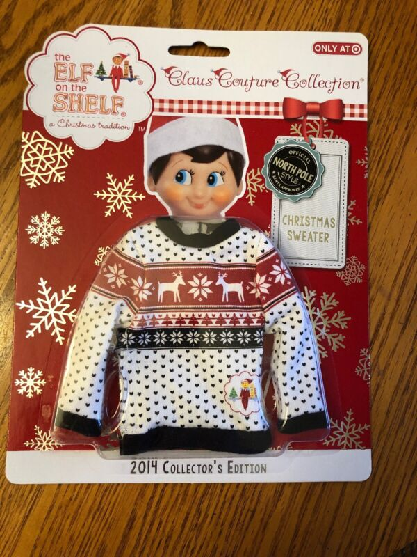 The Elf On The Shelf Claus Couture Collection Christmas Sweater 2014 Collectors