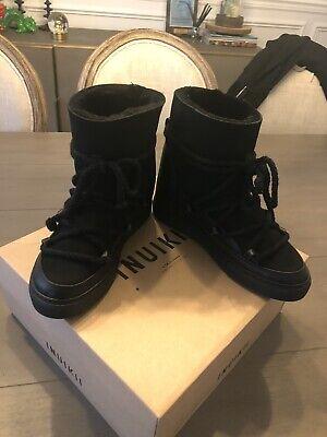 Inuikki sneaker wedge winter boot/shoe in Black 38/8 Rtl $350