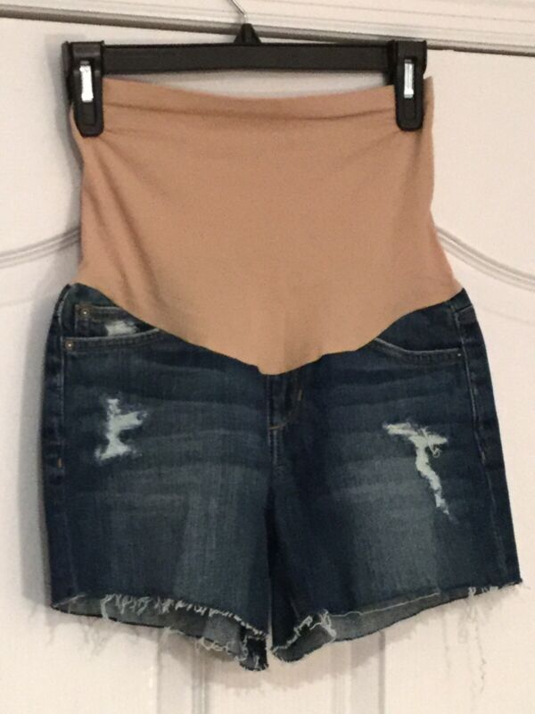 """JOE'S COLLECTOR'S EDITION """"The Ozzie"""" Maternity Cut-Off Jean Shorts. So 26. NEW."""