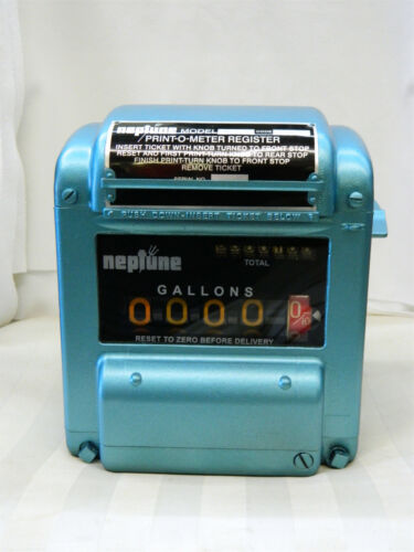 Vintage NEPTUNE Model 433 Print-O-Meter Register Fuel Gas Oil Truck Flow Meter